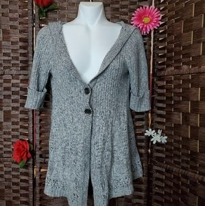 Maurices BLOUSE color gray with hoodie
